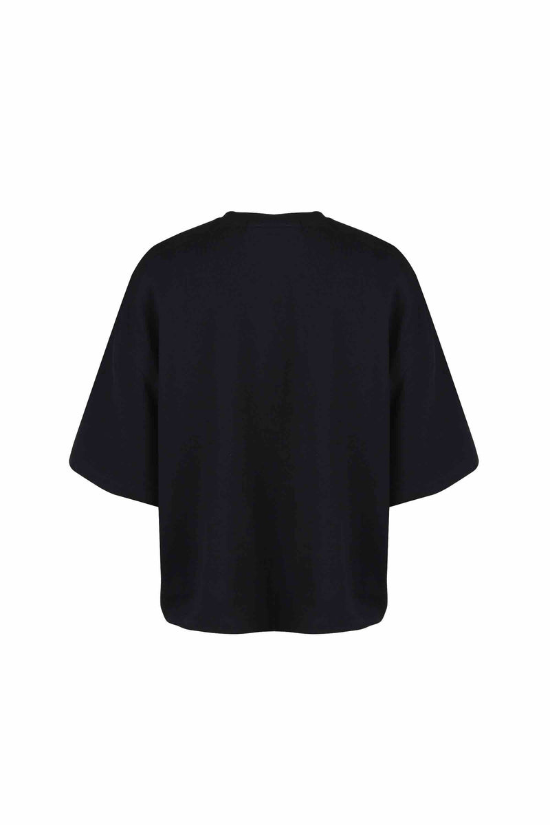 Bead Trim Pocket T-Shirt