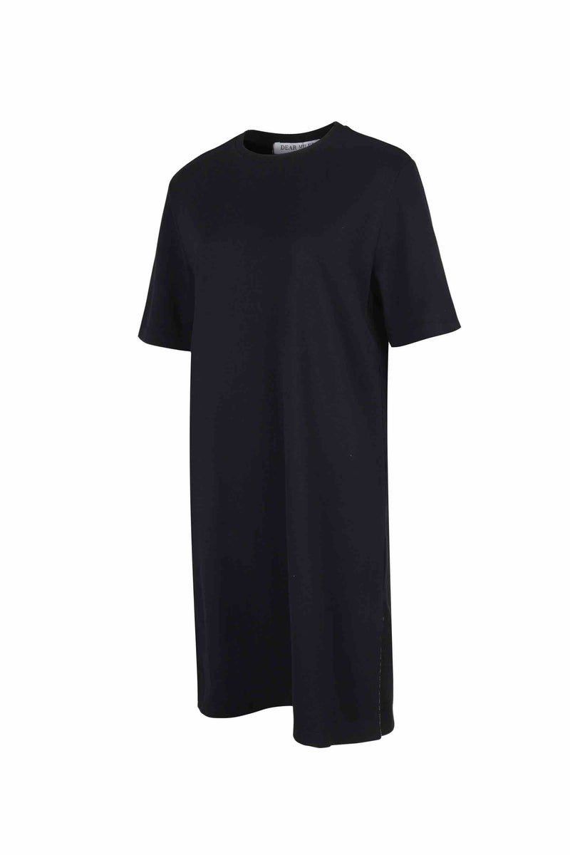 Side Slit Long T-Shirt - 20% OFF