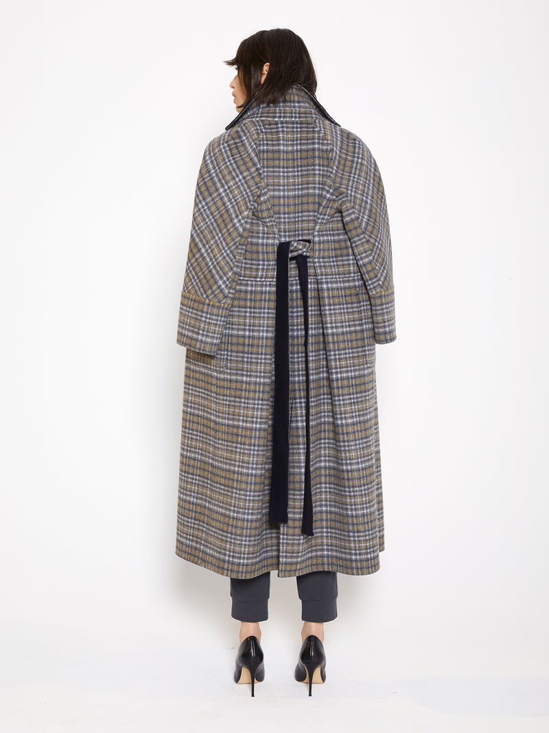 Reversible Handmade Wool Long Coat