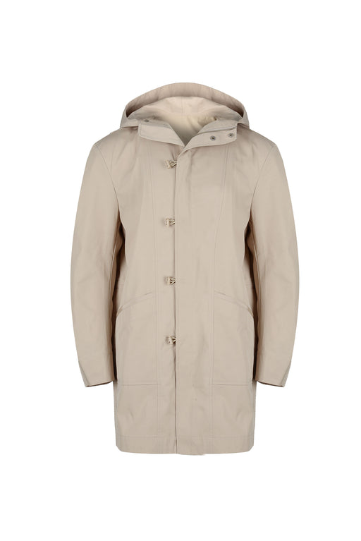Front view of Men Oversized Parka in Beige