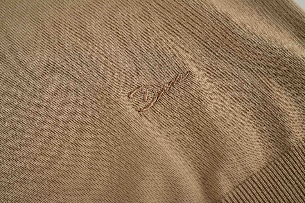 Men Embroidery Knit in Beige (Embroidery Detail)