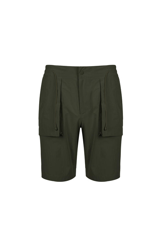 Front view of Men Cargo Pocket Shorts in Khaki