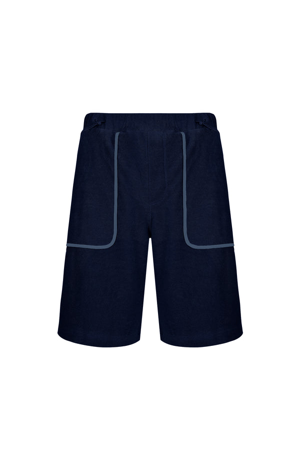 Men Line Detailed Terry Shorts