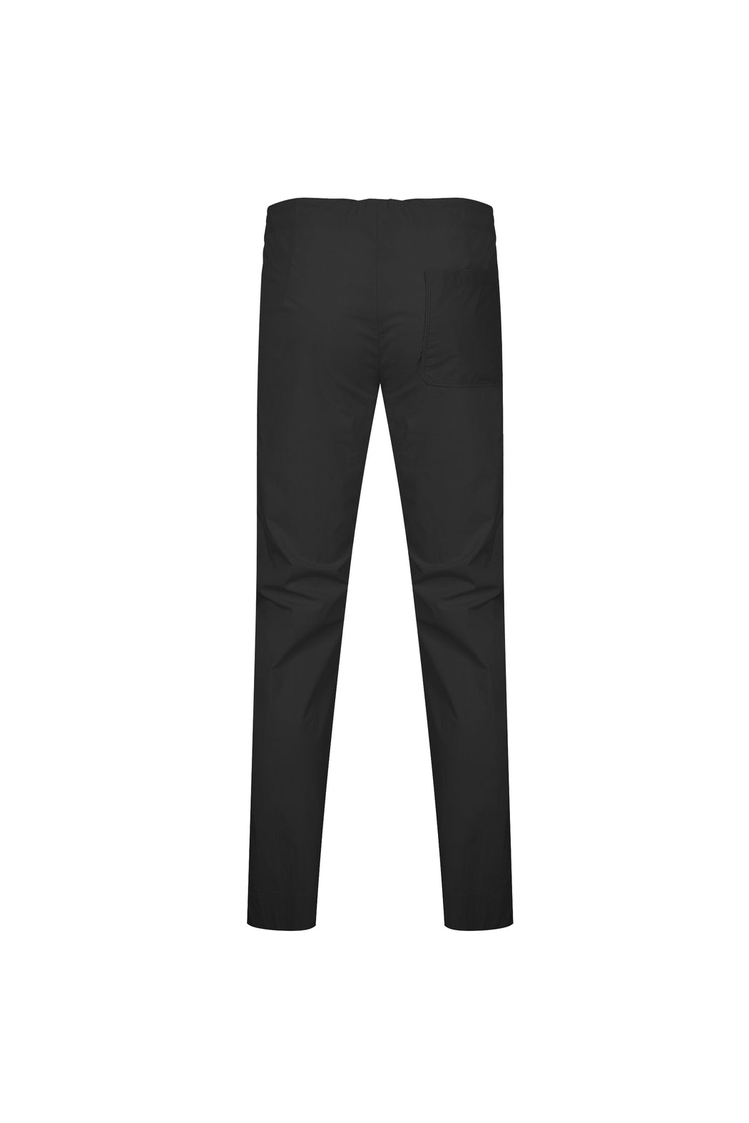 Back view of Men High Waist Stopper Detail Pants in Black