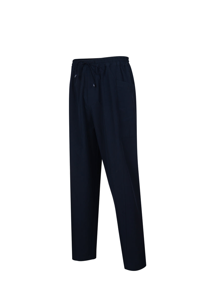 Side View of Men Cupra Side Pocket Easy Pants in Navy