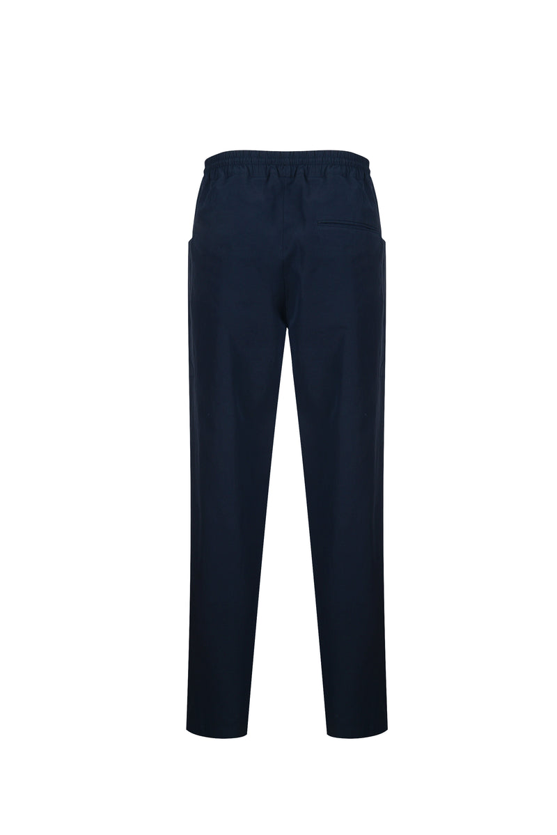 Back View of Men Cupra Side Pocket Easy Pants in Navy
