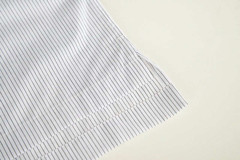 Men Contrast Collar Stripe Polo Shirt (Sleeve Detail)