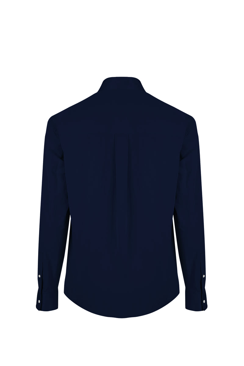Back view fo Men Shirt Jacket in Deep Navy
