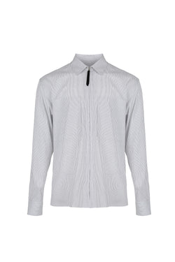 Men Stripe Shirt Jacket