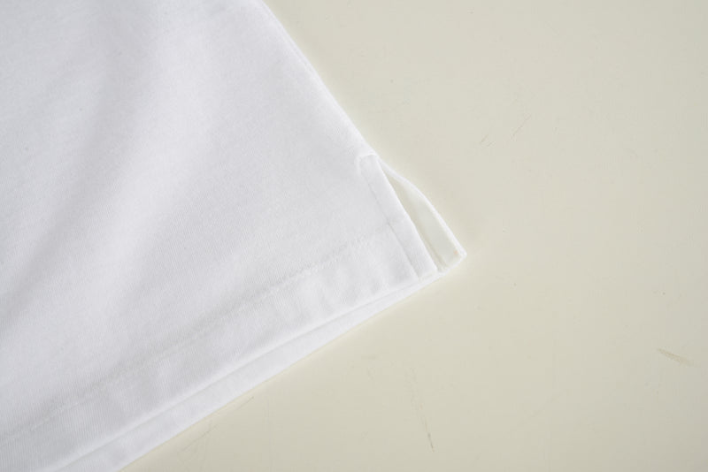 Men Zipper Polo Shirt in White (Sleeve Detail)
