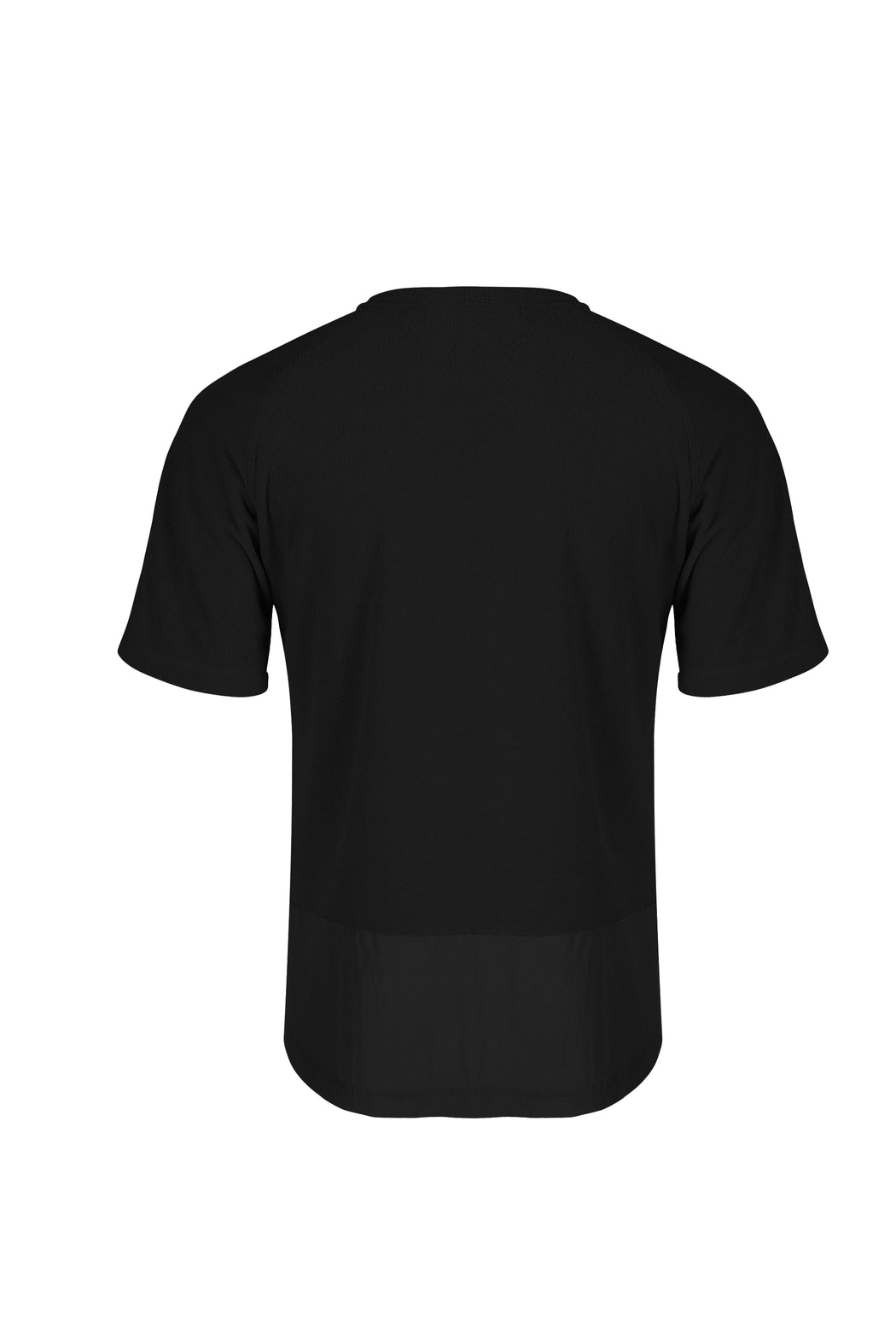 Back View of Men Pocket Blocked T-shirt, made with Supima Cotton in Black