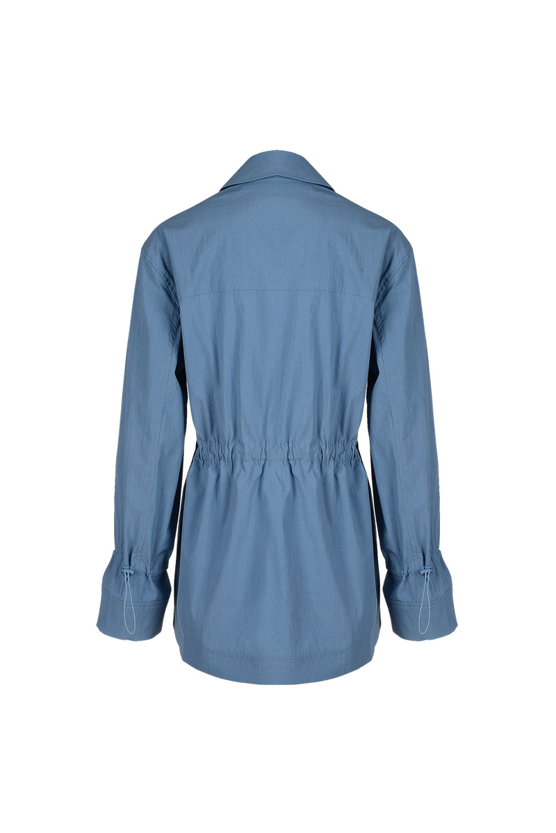 Women Cotton Nylon Button Jacket