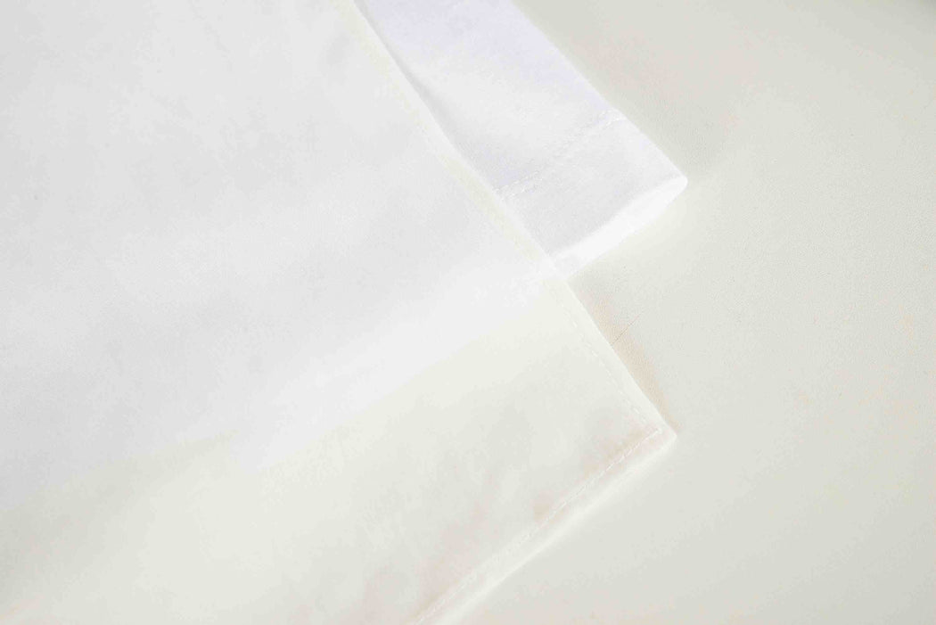 Women Cupro Blocked T-Shirt, Detail, White