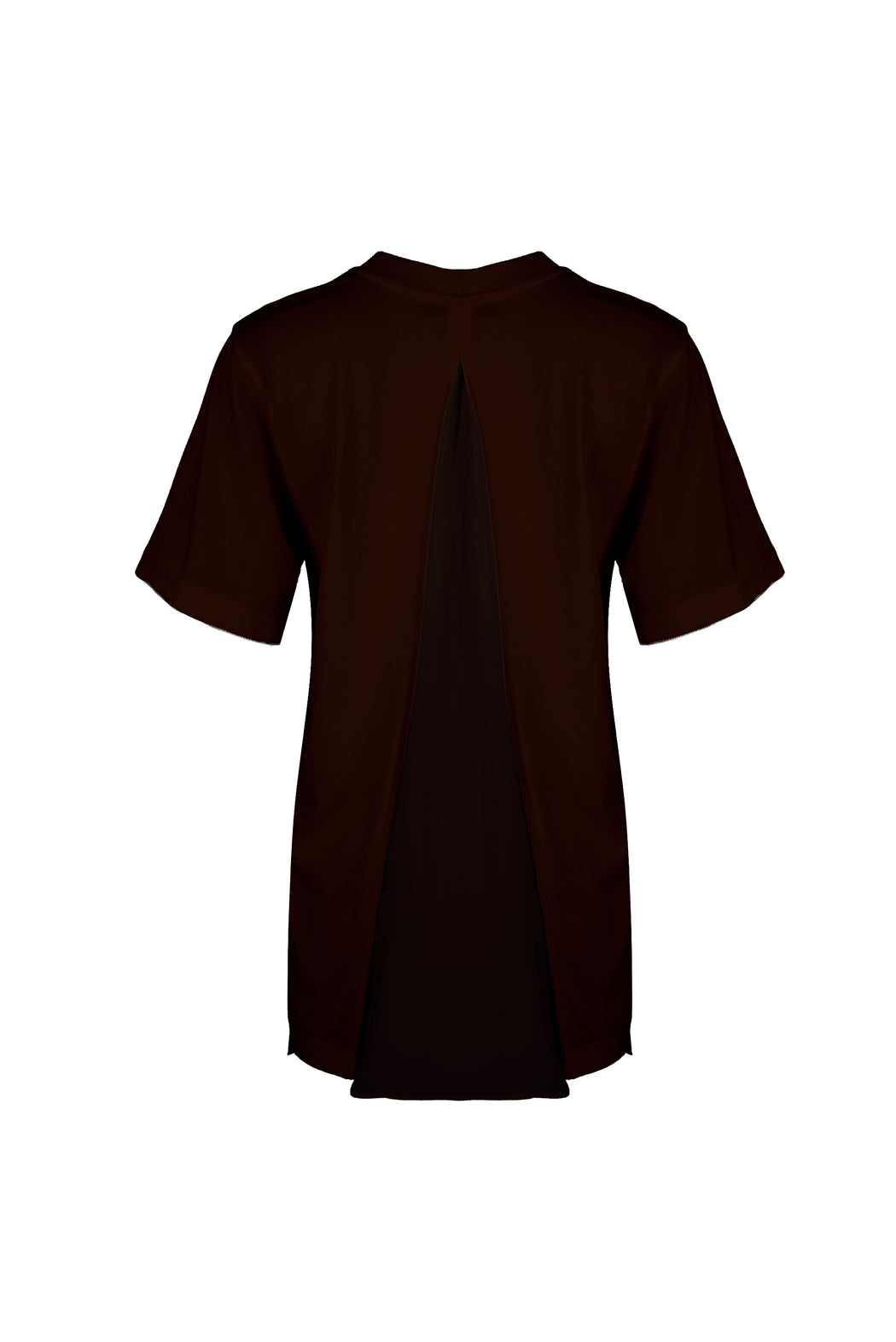 Women Cupro Blocked T-Shirt, Brown