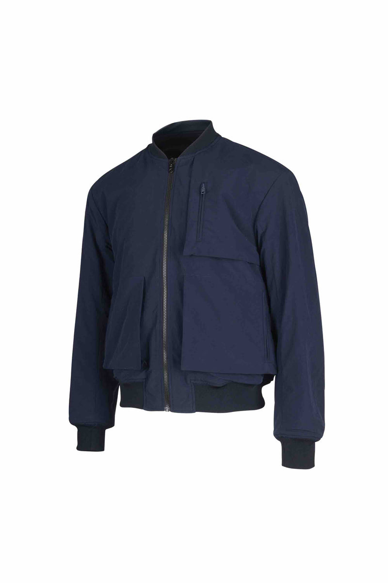 Reversible Wool Patch Bomber - 20% OFF