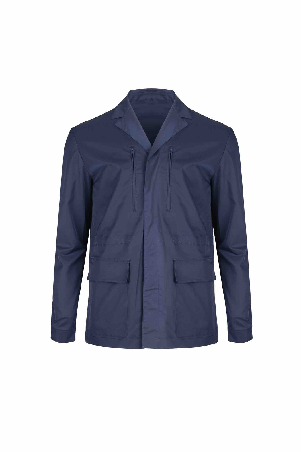 Front view of Men Light Blazer Jacket in Navy