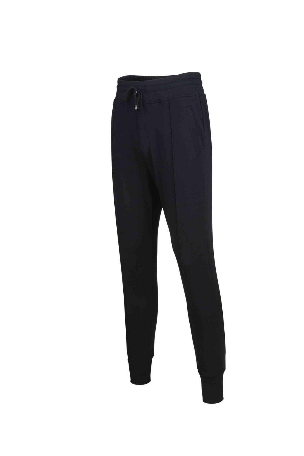 Side view of Men Easy Jogger Pants, made with Organic Cotton in Black