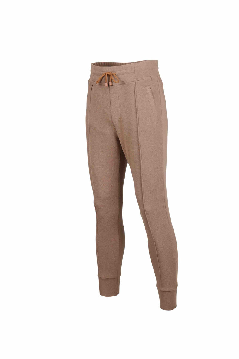Side view of Men Easy Jogger Pants in Camel