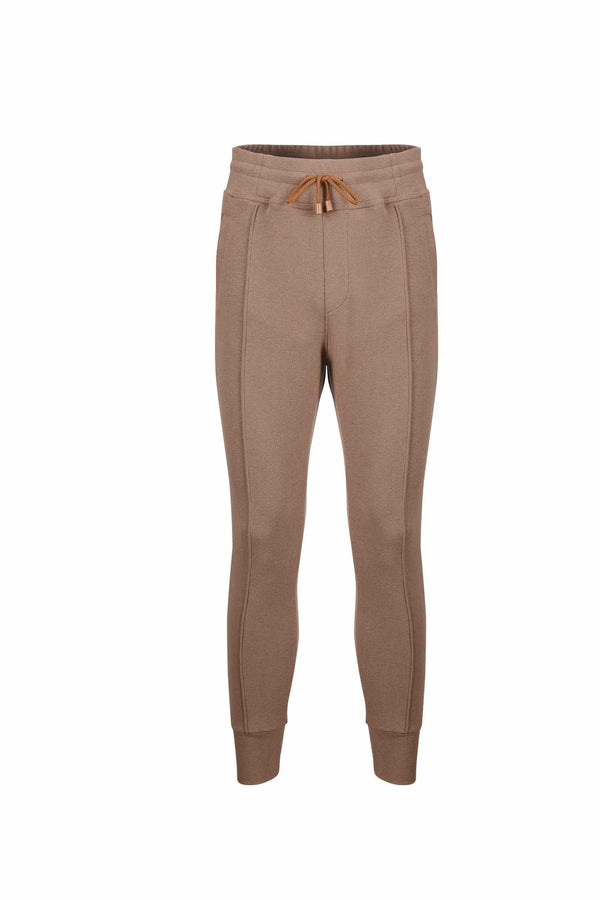 Front view of Men Easy Jogger Pants in Camel