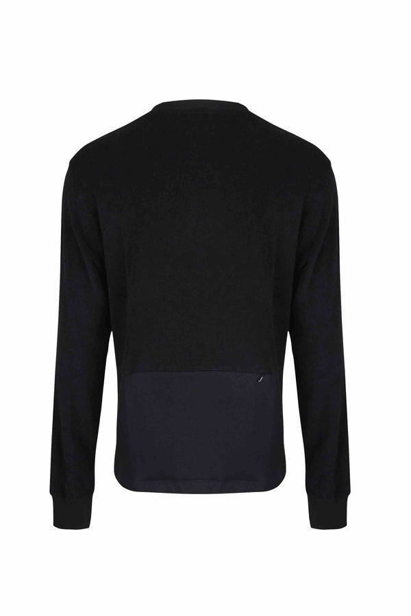 Terry Back Block Sweatshirt - 20% OFF