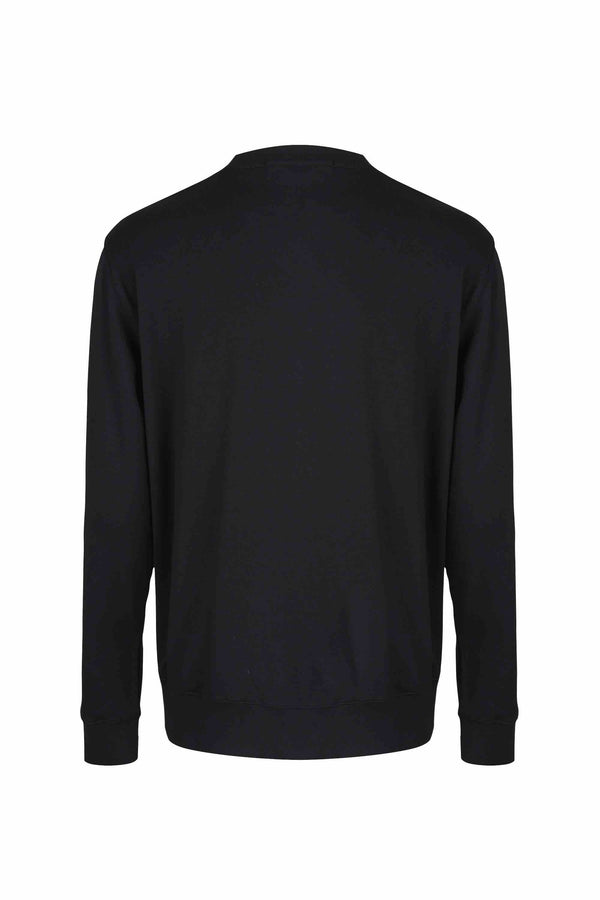 Nylon Pocket Blocked Sweatshirt