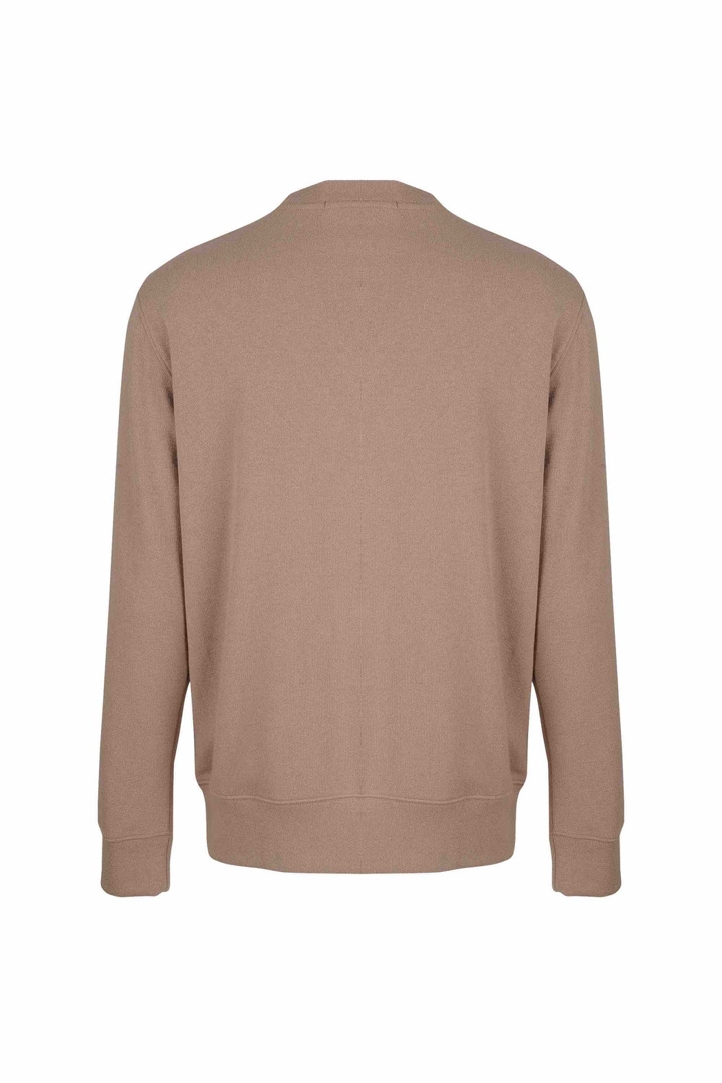 Back view of Men Pocket Blocked Sweatshirt in Orange/Camel