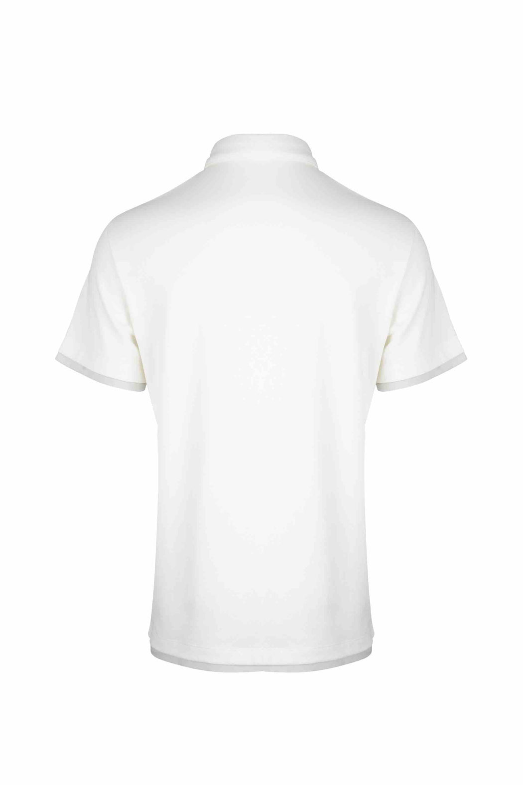 Back view of Men Contrast Polo Shirt, made with Organic Cotton in White