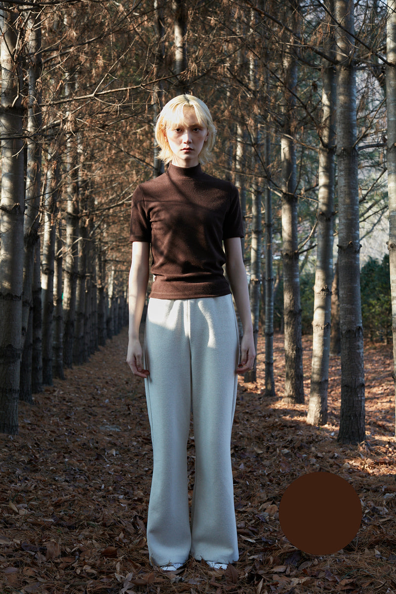 Turtleneck T-shirt - brown
