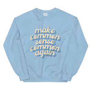 Common Sense Sweatshirt (Blue)