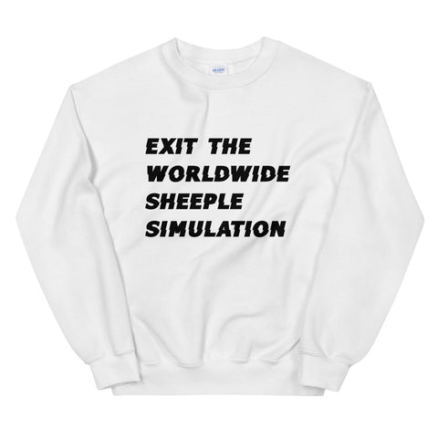 Exit Sweatshirt (BLACK or WHITE)