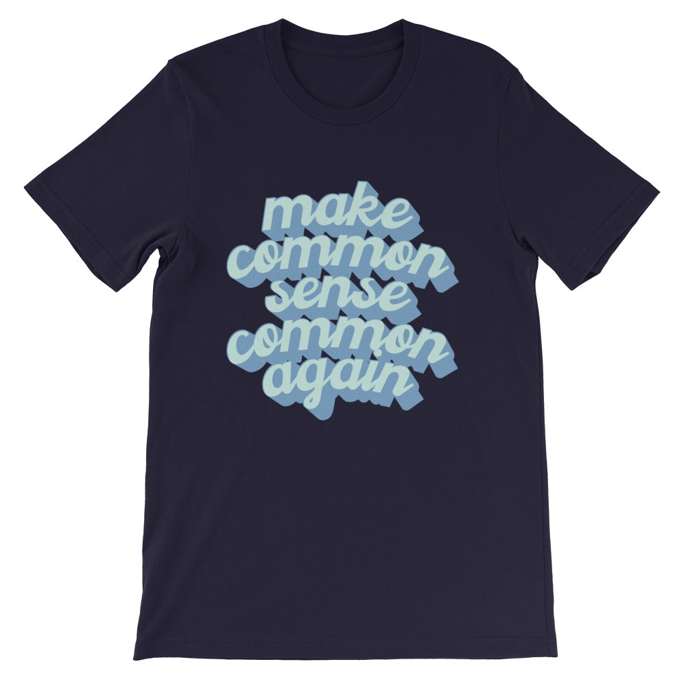Common Sense T-Shirt (In Navy or Cream)