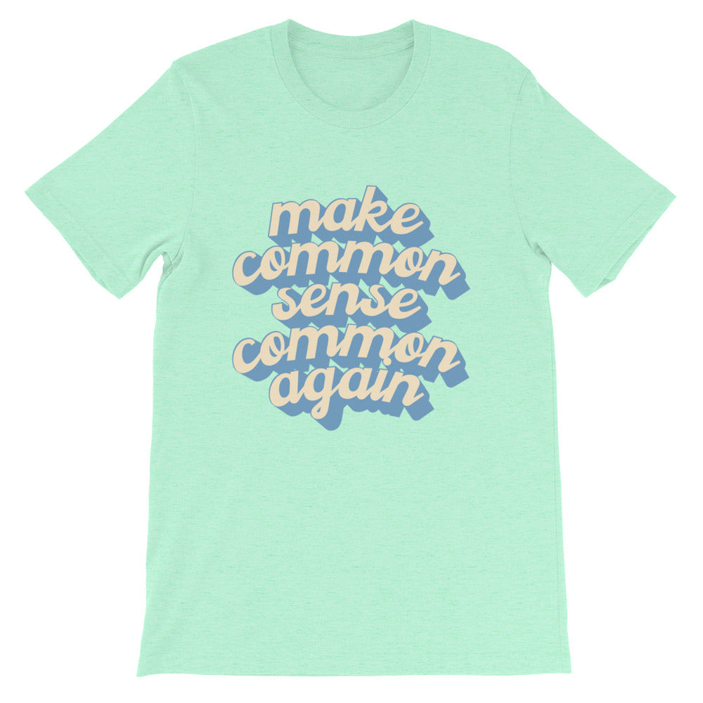 Common Sense T-Shirt (In Mint or Blue)