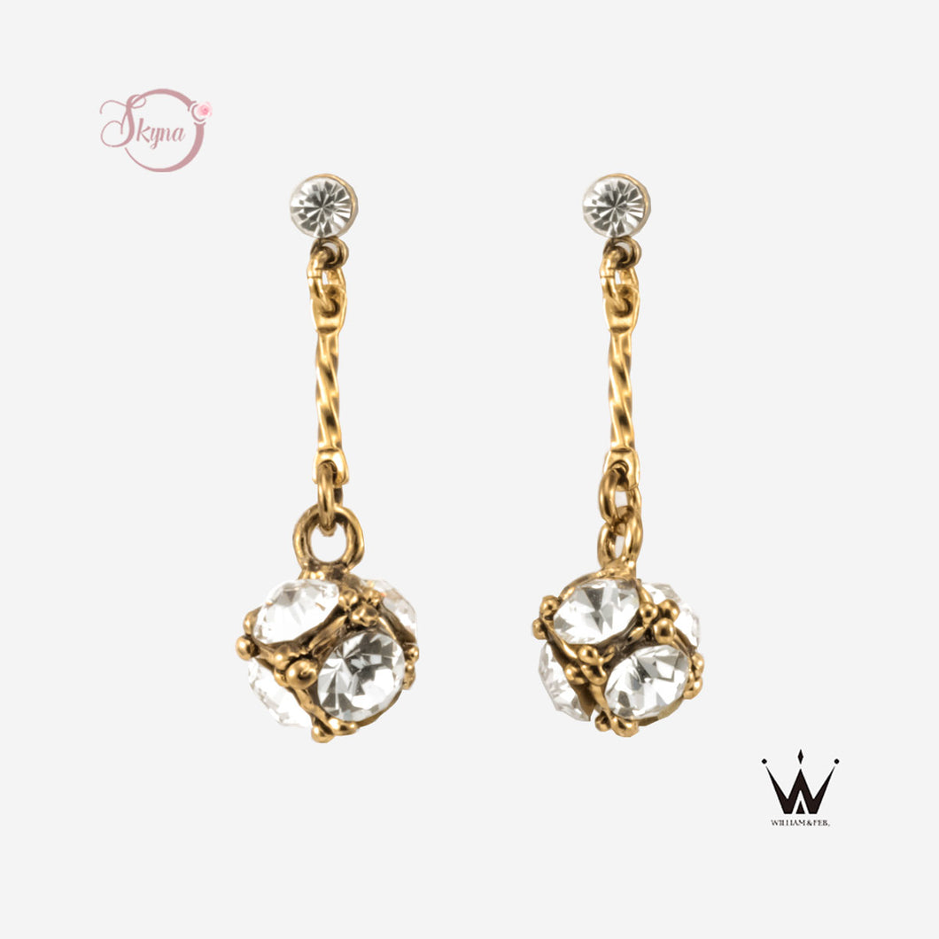 Draped Rhinestone Earring