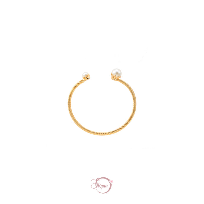Bendable Gold Pearl Bangle