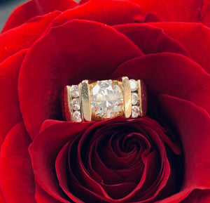 Estate 14k Yellow Gold and Diamond Ring