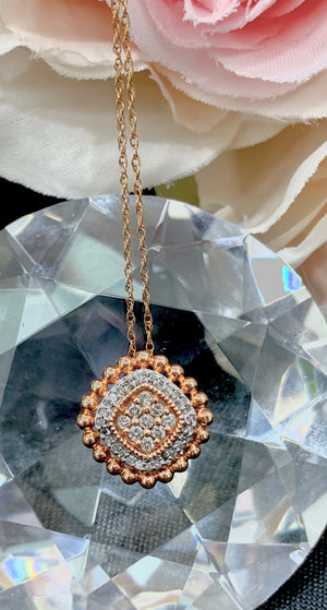 10k Rose Gold and Diamond Pendant