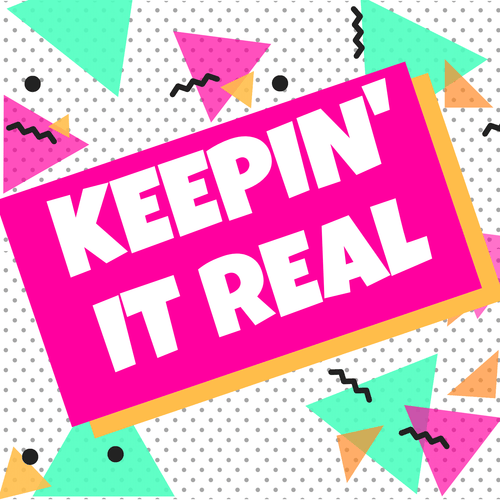90s party banner keep it real rent party decor