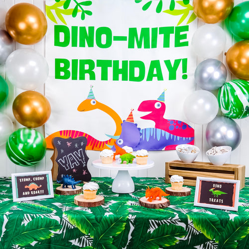 rent dinosaur birthday party decorations supplies