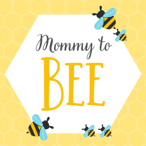 rent baby shower mommy to be banner bee theme