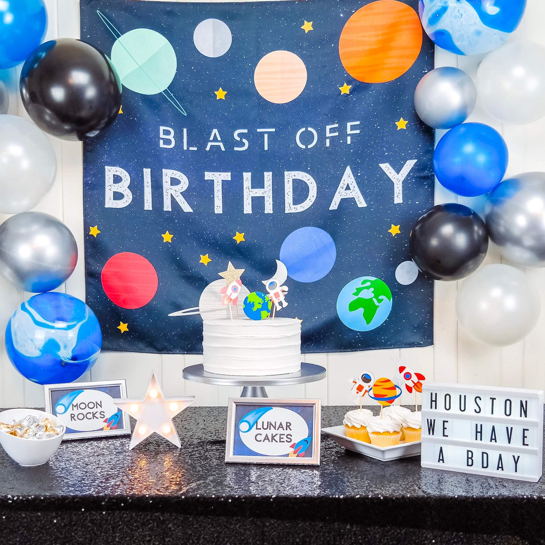 space birthday party decorations for rent