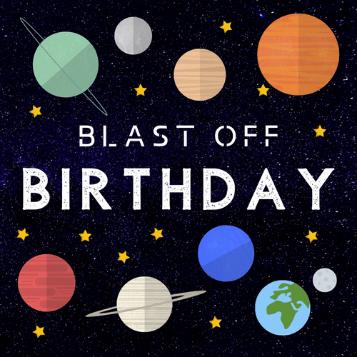 Rent outer space galaxy birthday banner