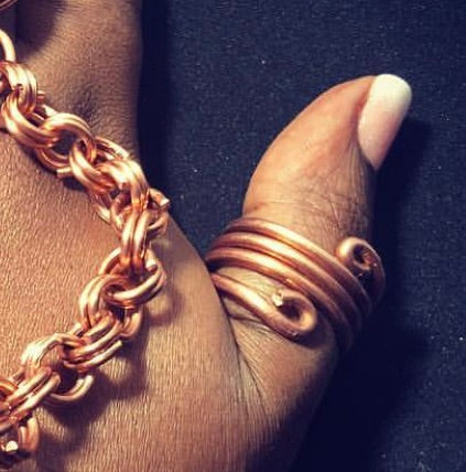 Copper Thumb Ring