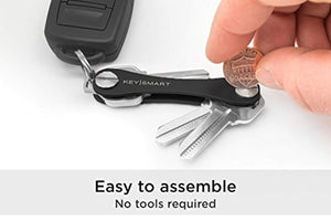 KeySmart Classic - Compact Key Holder and Keychain Organizer (up to 14 Keys, Black)