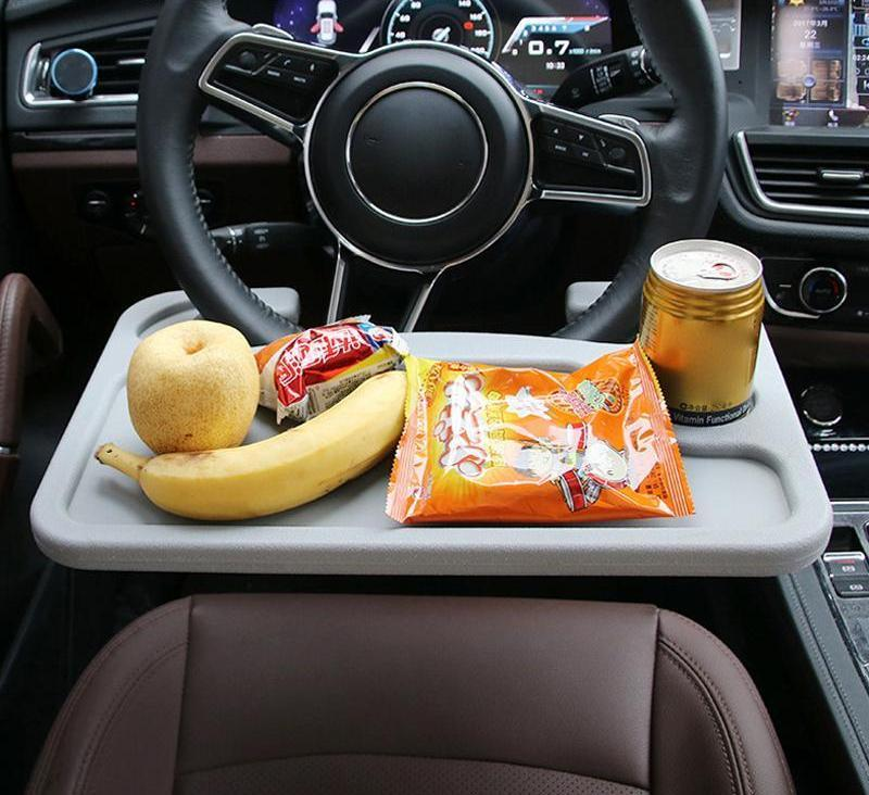 【Limit discounts!】Portable Car Desk, Laptop/Eating Wheel Desk