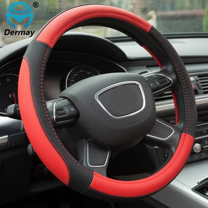 5 Colors Leather Steering Wheel Cover Sport Style Car Covers,Fit Most Car Styling Factory Wholesale High Quality
