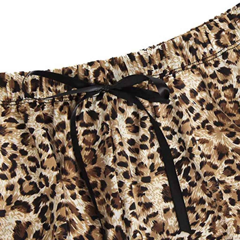 US Fashion Women Sleepwear Lingerie Lace  Leopard