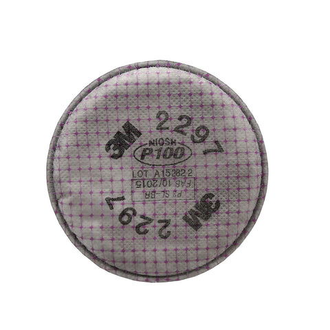 Image of 3M Advanced Particulate Filter, 2297, P100, (2 Packs of 2 Filters)