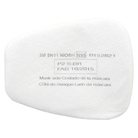 3M Particulate Filter, 5N11, N95, 1 Pack of 10