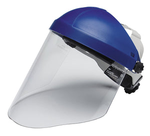 3M Ratchet Headgear H8A, Head and Face Protection with 3M Clear Polycarbonate Faceshield