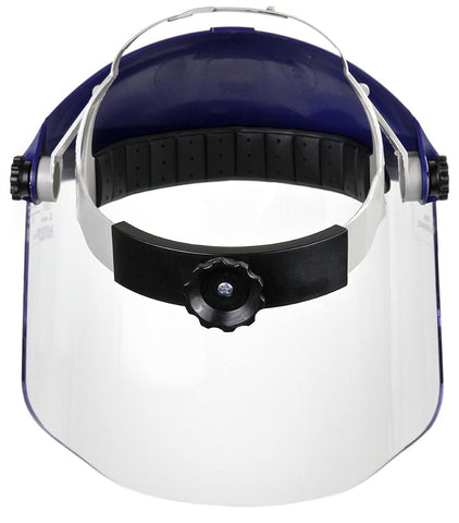 Image of 3M Ratchet Headgear H8A, Head and Face Protection with 3M Clear Polycarbonate Faceshield